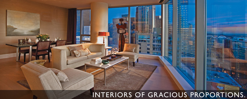 Interiors of Gracious Proportions. High-rise Residences in Downtown Seattle
